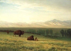 Albert Bierstadt - Buffalo on the Plains, c.1890