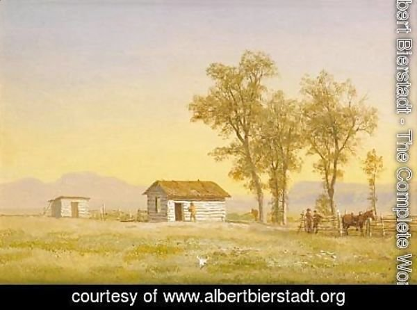 Albert Bierstadt - Homestead in the Rocky Mountains 1863