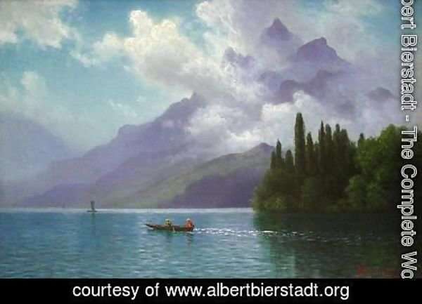 Albert Bierstadt - Lake View, Italian Alps