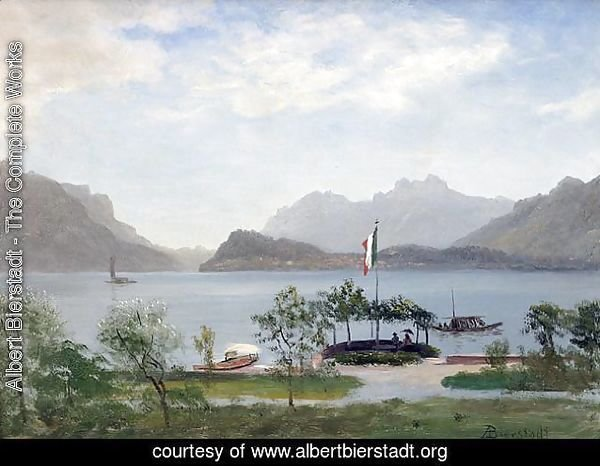 Lakeshore In Northern Italy,  c 1855