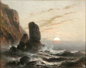 Albert Bierstadt - Oregon Coastline