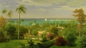 Albert Bierstadt - Panoramic View of the Harbour at Nassau in the Bahamas