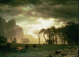 Albert Bierstadt - Passing Storm in Yosemite, 1865