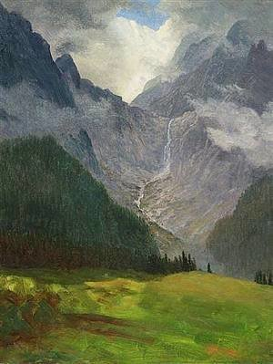 Albert Bierstadt - Storm in the Rocky Mountains