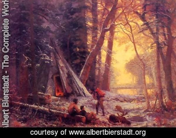 Albert Bierstadt - Moose Hunters' Camp
