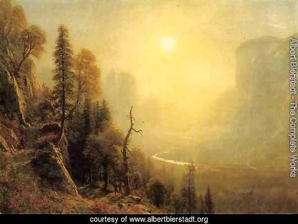 "Study for ""Yosemite Valley, Glacier Point Trail"""