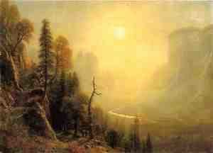 "Albert Bierstadt - Study for ""Yosemite Valley, Glacier Point Trail"""