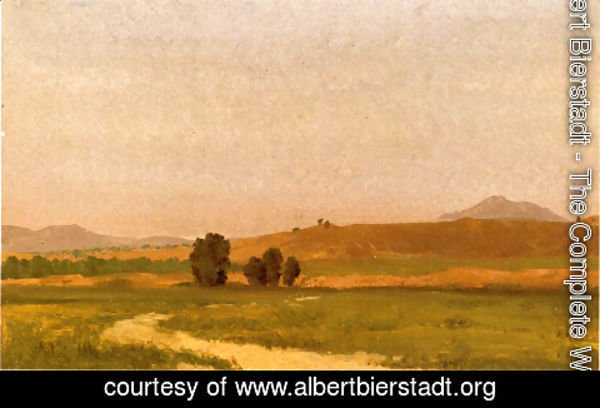 Albert Bierstadt - Nebraska, On the Plains