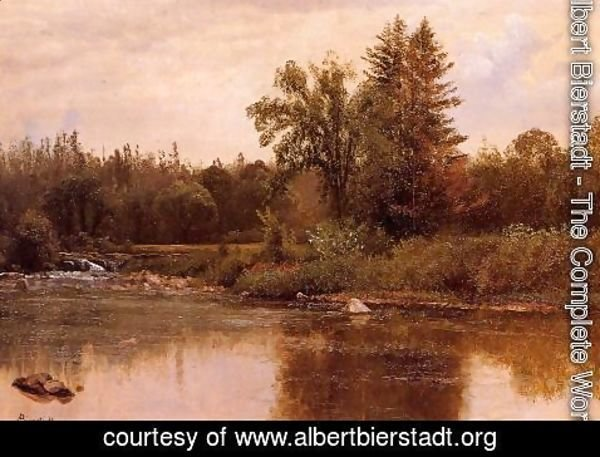 Albert Bierstadt - Landscape, New Hampshire