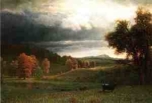 Albert Bierstadt - Autumn Landscape: The Catskills