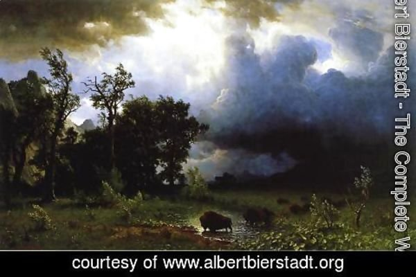 Albert Bierstadt - Buffalo Trail (or The Impending Storm)
