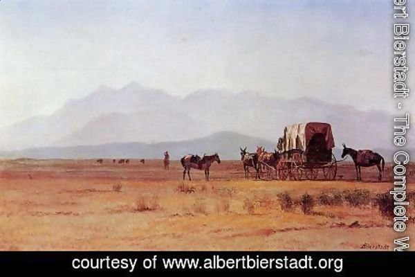 Albert Bierstadt - Surveyor's Wagon in the Rockies