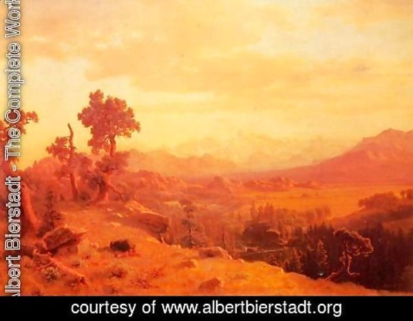 Albert Bierstadt - Wind River Country I