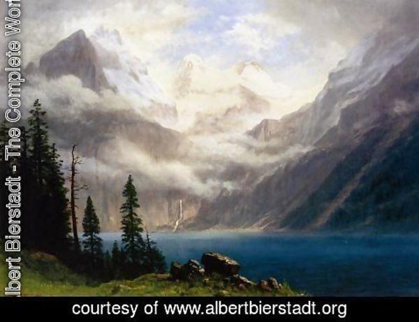Albert Bierstadt - Mountain Scene I