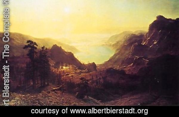 Albert Bierstadt - View of Donner Lake, California