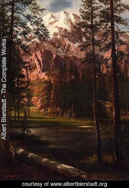 Albert Bierstadt - Mountain Lake I