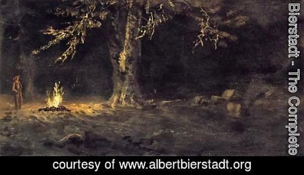 Albert Bierstadt - Campfire, Yosemite Valley