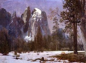 Cathedral Rocks, Yosemite Valley, Winter