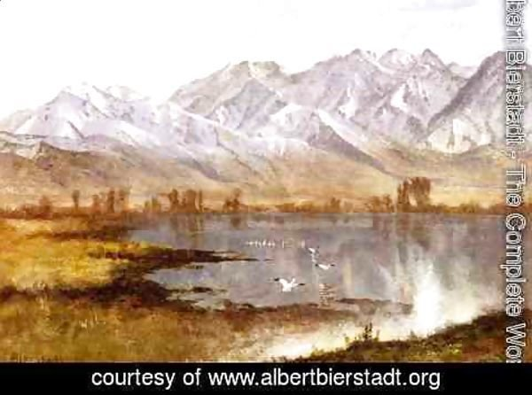 Albert Bierstadt - Wassatch Mountains, Utah