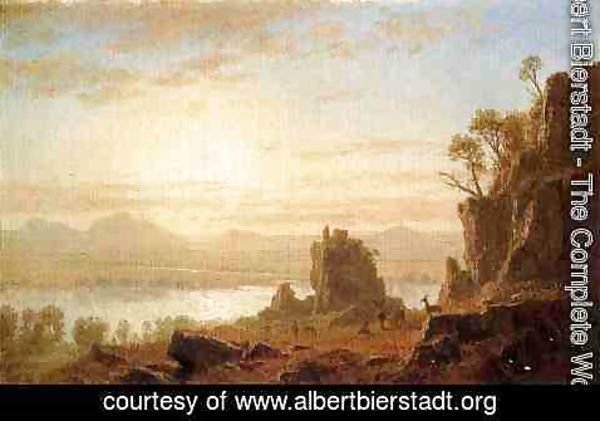 Albert Bierstadt - The Columbia River, Oregon
