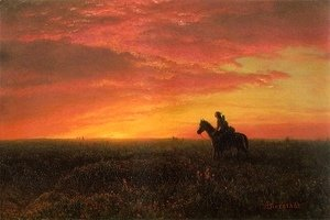 On the Plains, Sunset