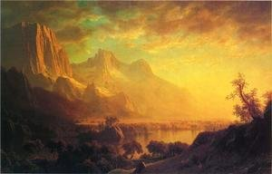Albert Bierstadt - Wind River, Wyoming
