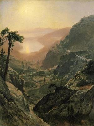 Albert Bierstadt - View of Donner Lake, California I
