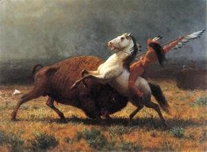 Albert Bierstadt - The Last of the Buffalo II