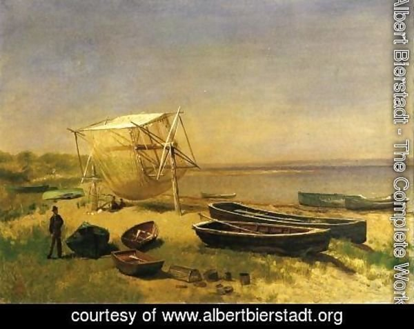 Albert Bierstadt - Fishing Station, Watch Hill