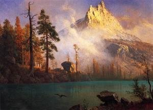 Albert Bierstadt - Mountain Lake III