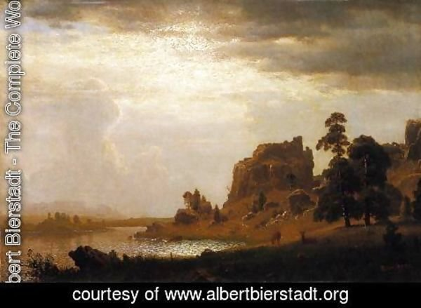 Albert Bierstadt - On the Sweetwater near the Devil's Gate