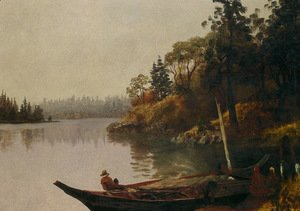 Albert Bierstadt - Salmon Fishing on the Northwest Coast