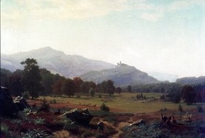 Albert Bierstadt - Autumn in the Conway Meadows Looking towards Mount Washington, New Hampshire