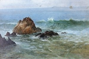 Albert Bierstadt - Seal Rocks off Pacific Coast, California