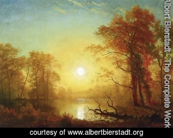 Albert Bierstadt - Sunrise