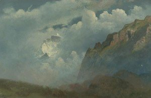 Albert Bierstadt - Mountain Peaks in the Clouds