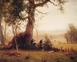 Albert Bierstadt - Guerrilla Warfare: Picket Duty in Virginia