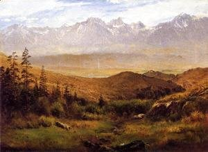 Albert Bierstadt - In the Foothills of the Mountains