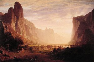 Albert Bierstadt - Looking Down Yosemite Valley, California