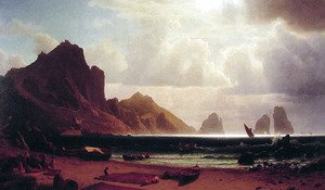 Albert Bierstadt - The Marina Piccola, Capri