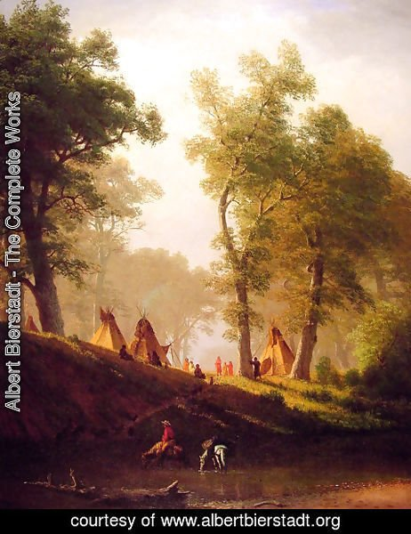 Albert Bierstadt - The Wolf River, Kansas