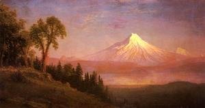 Albert Bierstadt - Mount St. Helens, Columbia River, Oregon
