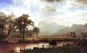 Albert Bierstadt - Crossing the river
