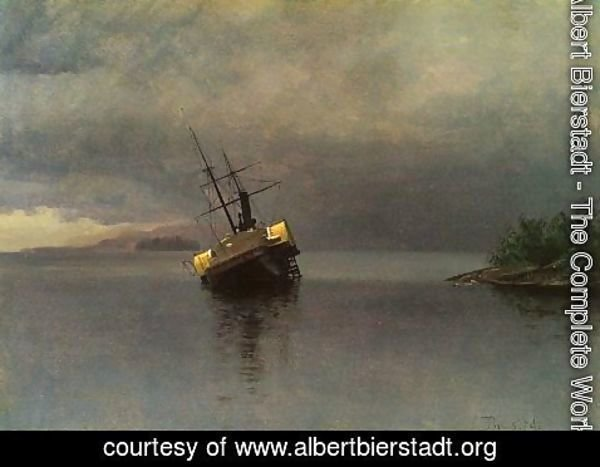 Albert Bierstadt - Ship sailing to the storm