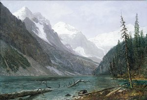 Albert Bierstadt - Canadian Rockies (Lake Louise) 1889