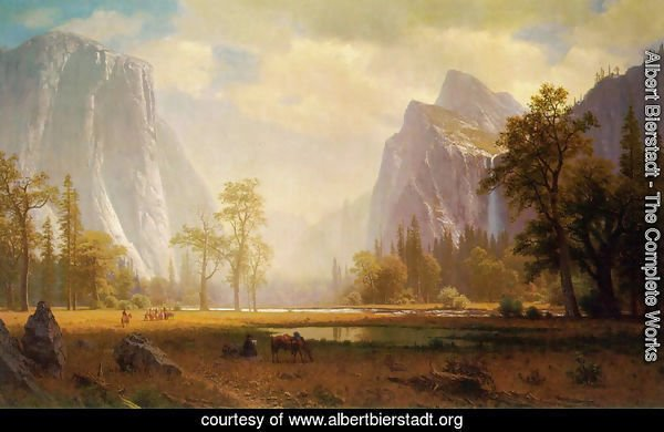 Looking Up The Yosemite Valley 1865 67