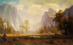 Albert Bierstadt - Looking Up The Yosemite Valley 1865 67