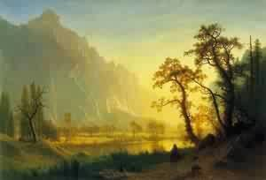 Albert Bierstadt - Sunrise Yosemite Valley