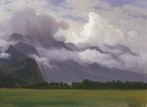 Albert Bierstadt - Clouds in Owens Valley