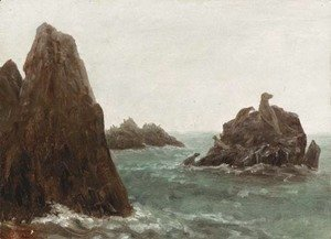 Albert Bierstadt - Seal Rocks, California